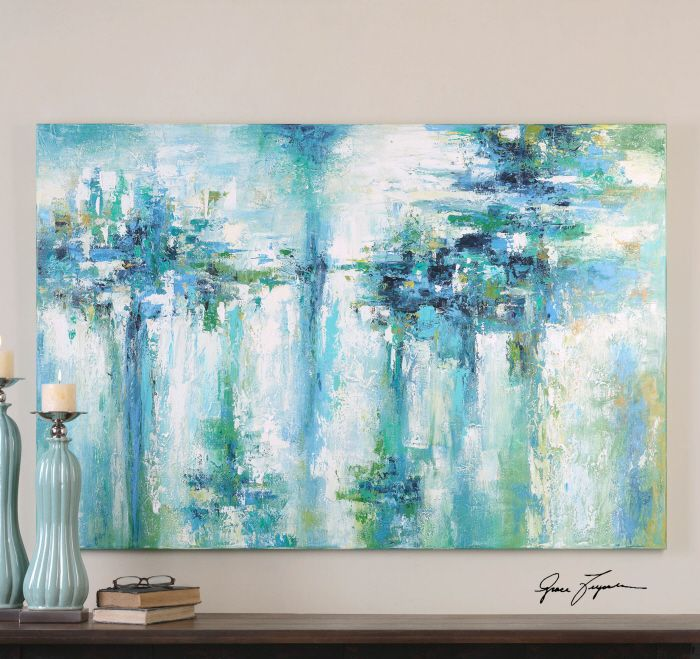 creating canvas art. Color Craze Modern Wall Art Vibrant Shades Of Blues And Greens Are Used In  Creating This Hand Painted Artwork On Canvas The Is Stretched Over A Wood 29 best images on Pinterest Abstract art Framed