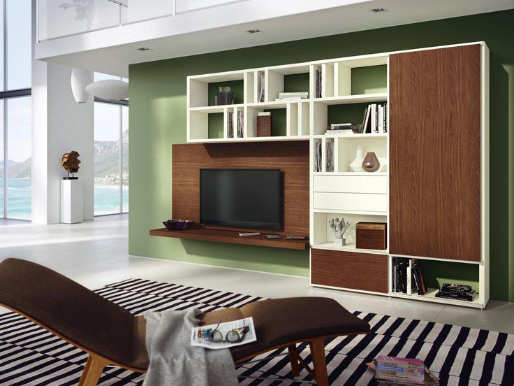 Exklusive Wohnwand Von Hulsta Mega Design Aus Kernnussbaum Hulsta Mega Design Wohnen Haus