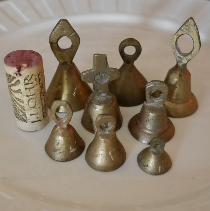Vintage Miniature Solid Brass Bell Collection Made In