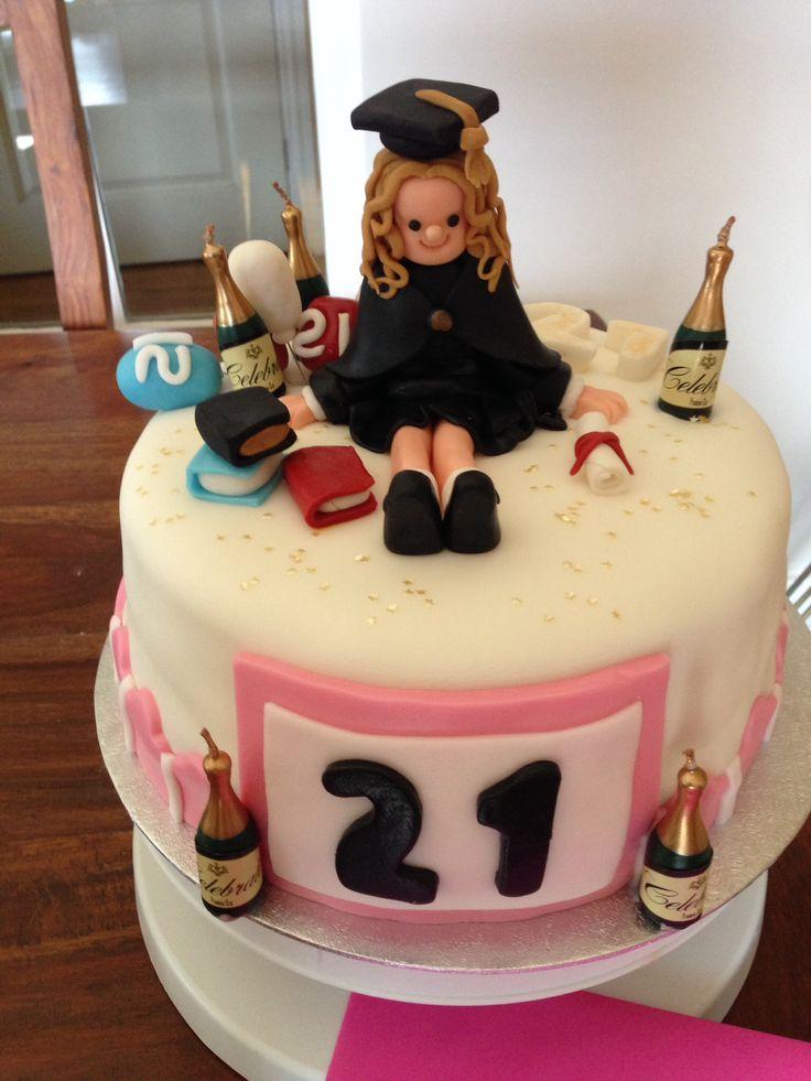21st birthday and graduation cake (red velvet)