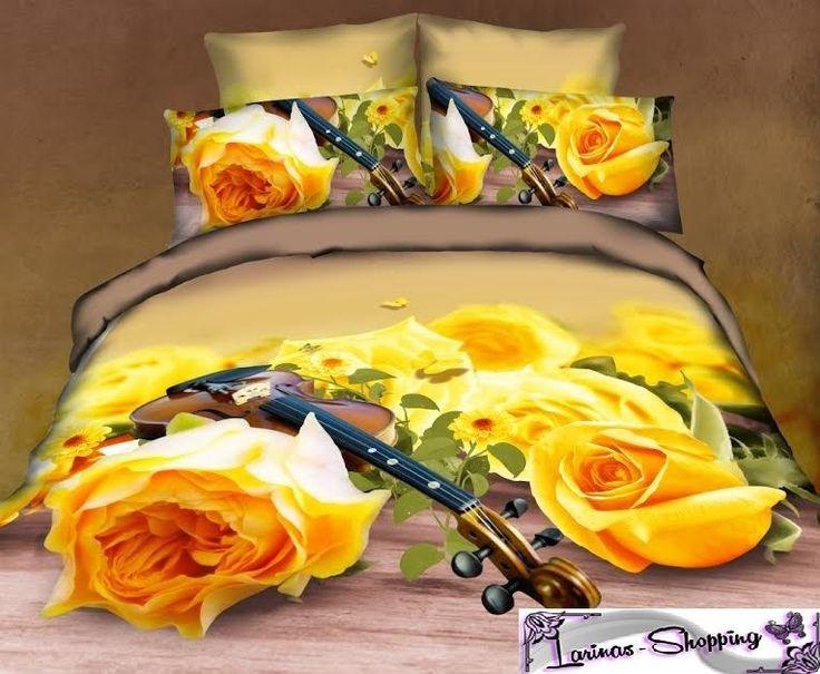"""Luxus Style""""Romantik""""3D Bettwäsche 150x220cm Bettbezüge Design 5Tlg Set Garnitur"""