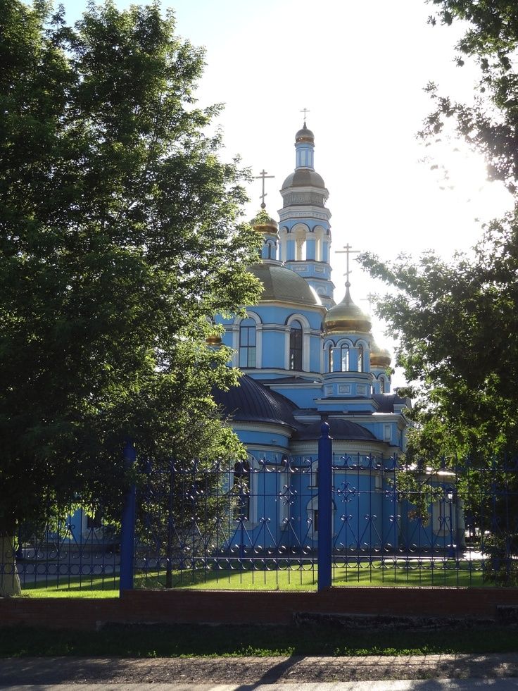 A church on my walk to the university in Ufa, Russia