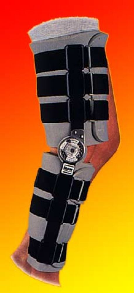 This is a brace we use routinely for patients undergoing certain types of knee surgery (ACL reconstruction, dislocating patella repairs) as well as for patients who have sustained fractures. Of all the hinged braces on the market, I prefer Donjoy for their durability and comfort. -Dr. Edward Loniewski, JointHealing.com