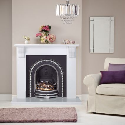 Aurora Victoria Flat Against Wall Electric Fireplace Suite Image 2