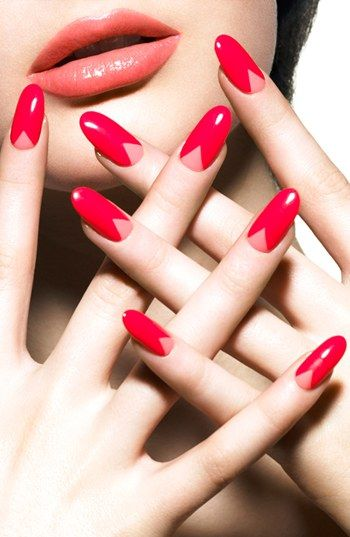 flirtatious...layer two glossy colors of pink or coral nail polish @nordstrom
