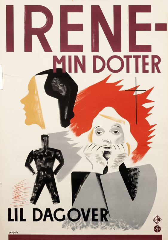Irene - Min Dotter (Das Madchen Irene) by Illegible (1936)   Shop original vintage posters online: www.internationalposter.com
