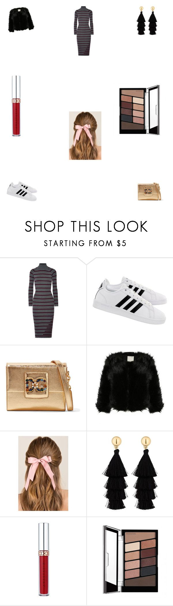 """Untitled #3636"" by fatmasuroor ❤ liked on Polyvore featuring T By Alexander Wang, adidas, Dolce&Gabbana, Francesca's, Red Herring and Anastasia Beverly Hills"
