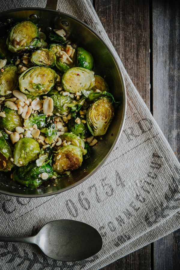 Roasted Brussels Sprouts with Honey and Peanuts | Souvlaki For The Soul
