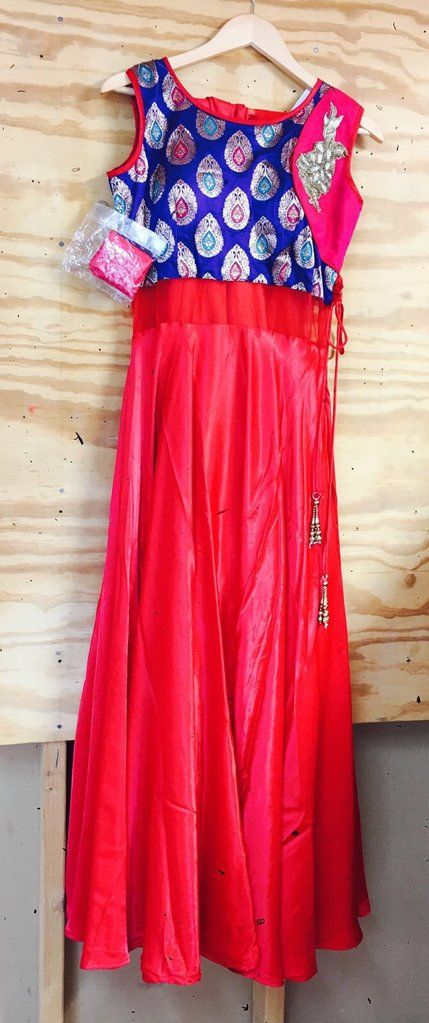 Red suit with matching churidar and dupatta
