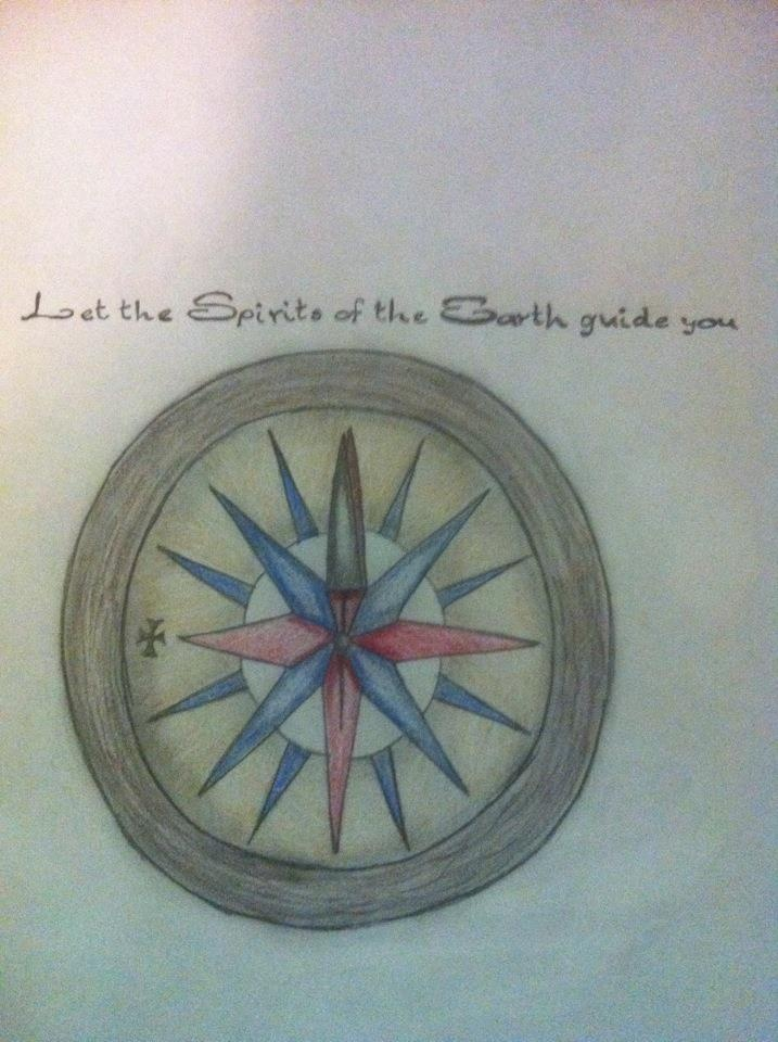 Pocahontas Compass tattoo request, Drawn by Brittany Rheaume