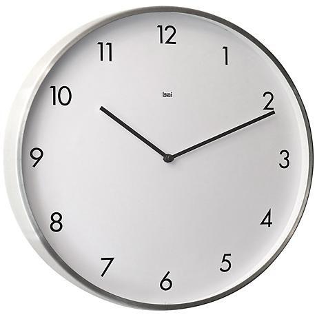 "Bodoni Modernist Steel 15"" Round Wall Clock"