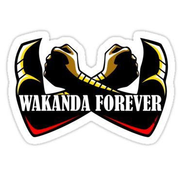 Wakanda forever red sticker