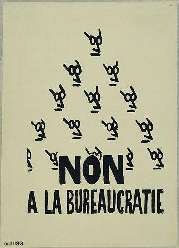 Mai 68 Non à la bureaucratie