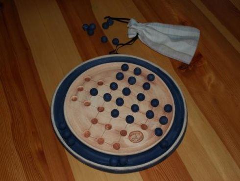 Solitér - stolní hra - průměr 29 cm