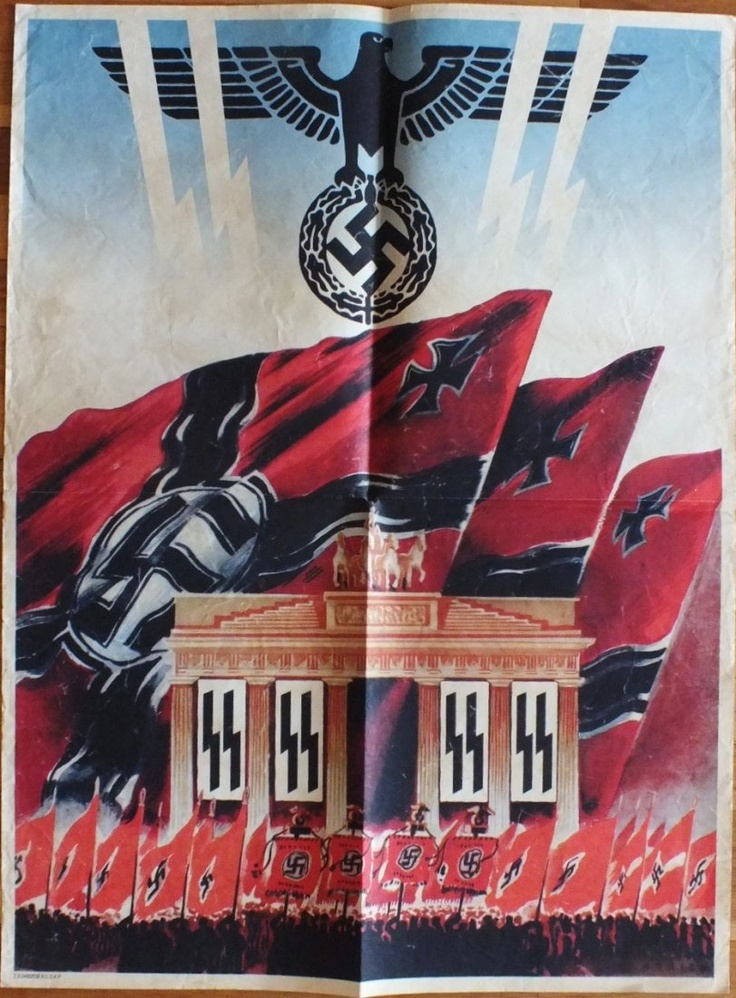 WW2  GERMAN POSTER PROMOTING A NUREMBERG RALLY   ~Repinned Via Miguel Campíns