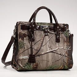 Realtree® Camouflage Satchel with Lock and Tassel  #camo handbags #hunting
