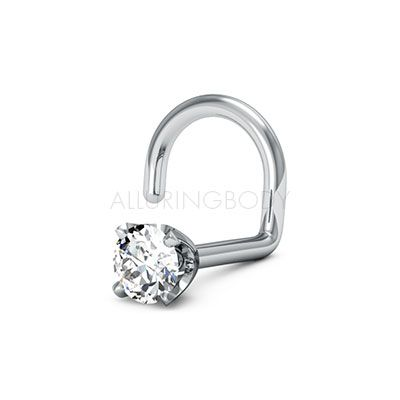 ring screw gold fit type solid options stud nose custom diamond