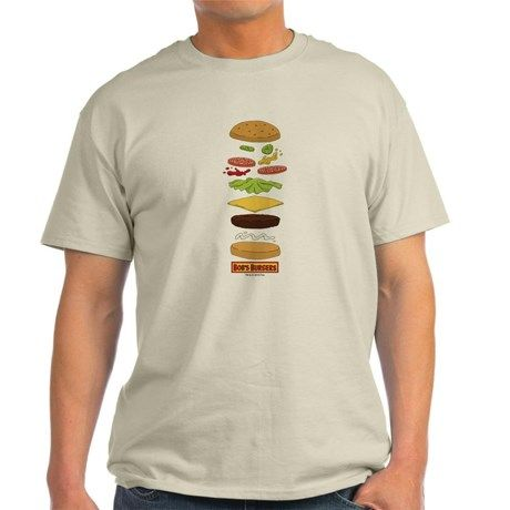 Bobs Burgers Stacked Burger T-Shirt on CafePress.com