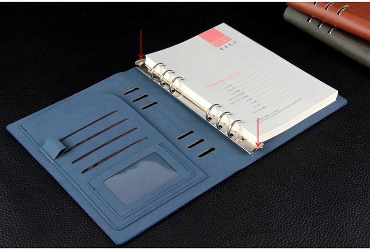 Многофункциональный спираль искусственная кожа блокнота а5 папка переплет joural бумажной записной книжки дневник красный /…