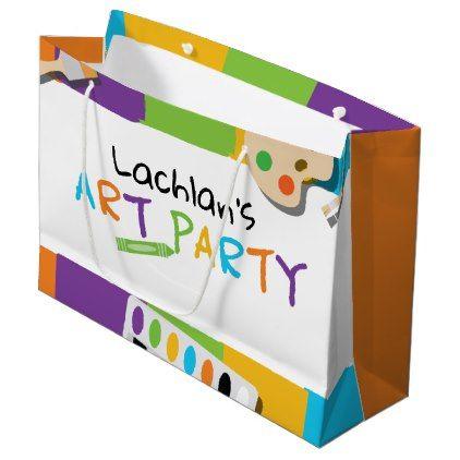 Art Party Custom Gift Bag - kids kid child gift idea diy personalize design