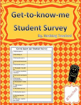 surveys to get to know someone 17 best ideas about student survey on pinterest interest 4544