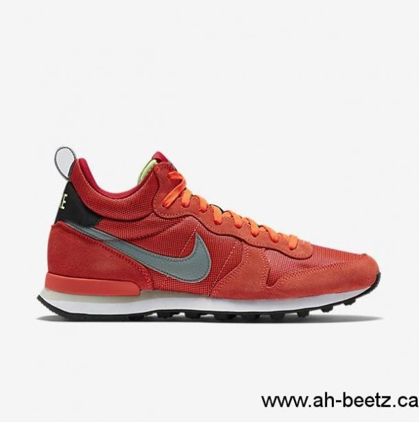 2017 Solid Black Nike Shoes Men\'s Nike Internationalist Mid Dark Red/Bright Crimson/Black/Dust Shoes Canada DJH5603358