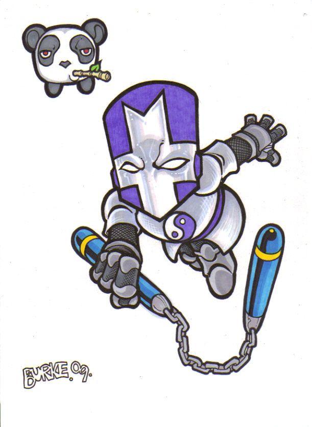 Purple knight purple knight by loyin on deviantart - Castle crashers anime ...