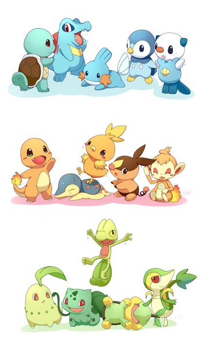 All Cute Pokemon | Say what you mean | all Pokemon Starters, sooo cute Water Type  and fire type and grass type