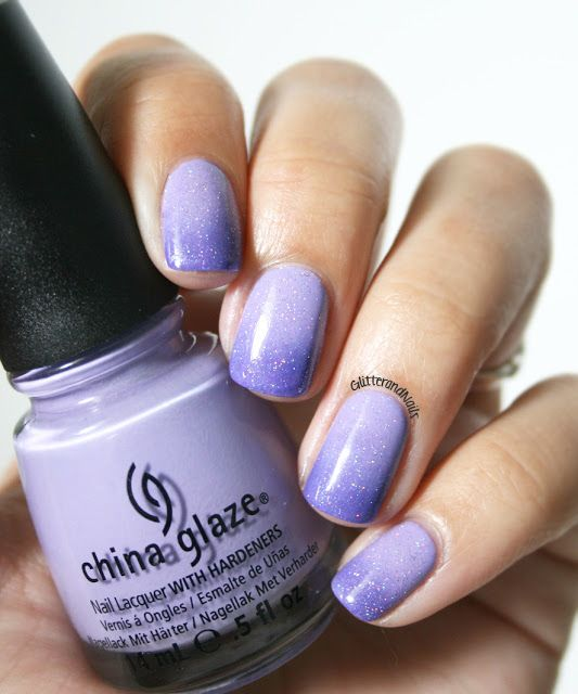 China Glaze Tart-y for the Party + Kiko (author is unsure of color) + China Glaze Fairy Dust