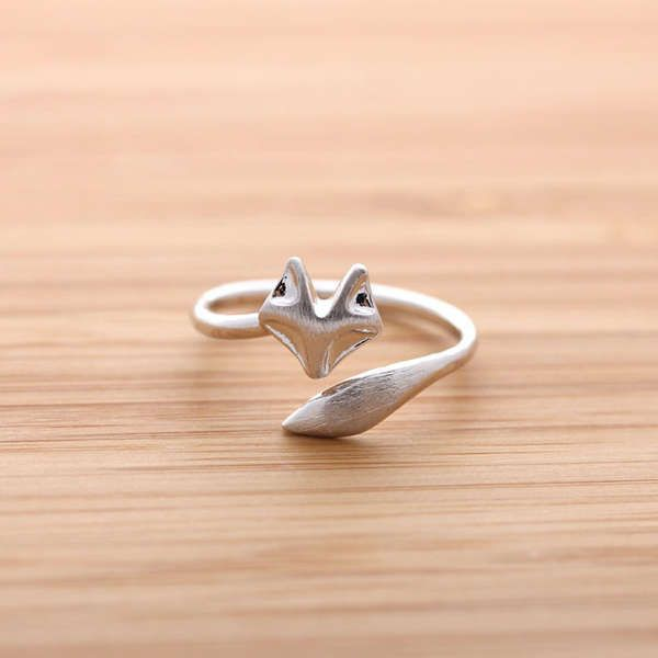 Woodland Creature Rings - This Adorable Fox Ring Wraps Around Your Finger (GALLERY)