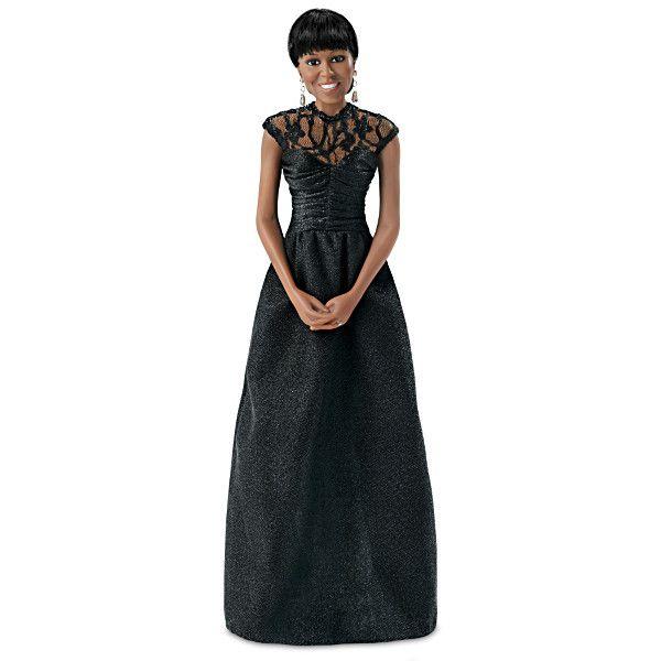 Michelle Obama Correspondents Dinner Portrait Doll