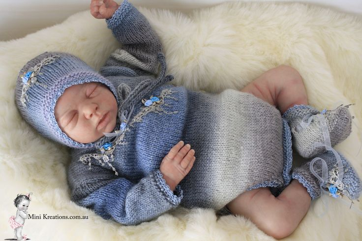 Crossover Onesie Set to fit 16-18 Inch In Blue & grey Hues https://www.facebook.com/mini.kreations/