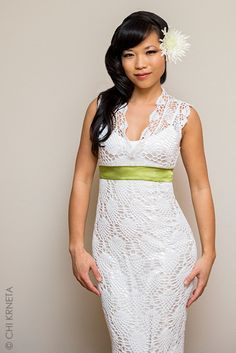 Crochet Lace / Wedding Dress Pattern by ChiKDesigns on Etsy - I have been looking EVERYWHERE for a pattern for this dress! SOOO glad she posted it!