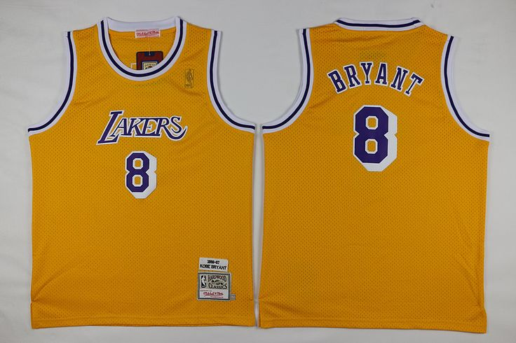 dc0fd827129 ... swingman throwback jersey youth los angeles lakers 8 kobe bryant 1996 97  yellow hardwood classics soul