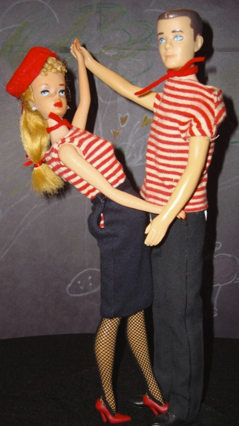 Barbie and Ken in Matching Stripes