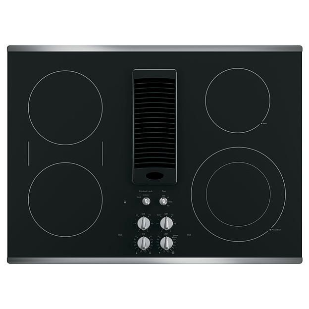"GE Profile™ Series PP9830SJSS 30"" Downdraft Electric Cooktop - Stainless Steel"