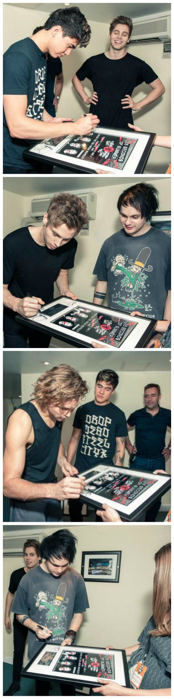 5SOS Backstage Wembley Arena #ROWYSO 6/12/15