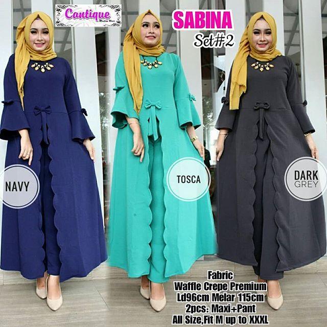 SABINA SET#2  Matt :  Waffle Crepe Premium   Detail  Ld96cm Melar 115cm  Lp 80cm Melar 130cm  Fit M up to XXL  *Serian 3 warna*  Good Quality  Harga : 160.000    #khimarmurah #maximurah #gamis #gamismurah #syari #muslim #muslimahfashion #jilbabgrosir #jilbab #ootd #hijab #trend #like4like #l #hijabmurah #jeans #kulot