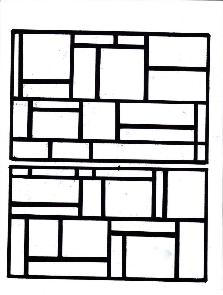 L'enfant doit choisir 3 espaces à colorier en bleu, 3 en jaune et 3 en rouge sur le modèle choisi. Crayons-feutres. http://www.teteamodeler.com/vip2/nouveaux/decouverte/fiche148.asp