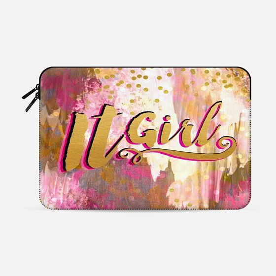 """IT GIRL"" by Artist Julia DiSano, Ebi Emporium on @casetify - Glam Typography Gold Metallic Pastel Pink Girly Chic Fine Art Painting Glitz Glamorous Fashion Trendy Polka Dots Waves Ikat Stylish Whimsical Feminine Modern Cute Abstract Design #pink #itgirl #itgirls #glam #typography #chic #spring #style #tech #macbookcase #macbook #macbookair #macbookpro #proretina #girly #fashion #Casetify #pink #gold"