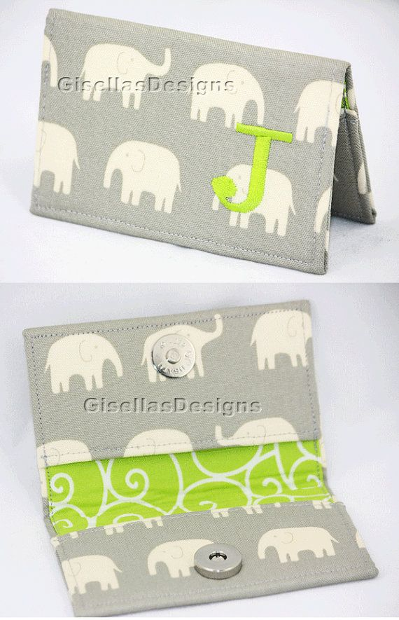 Personalized Business card holder / Custom made card holder/ choose your  favorite Designer Fabric on Etsy, $23.95