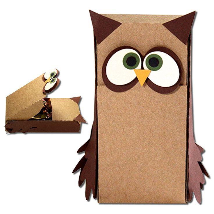 JMRush Designs: Owl Slider Hatch Treat Box
