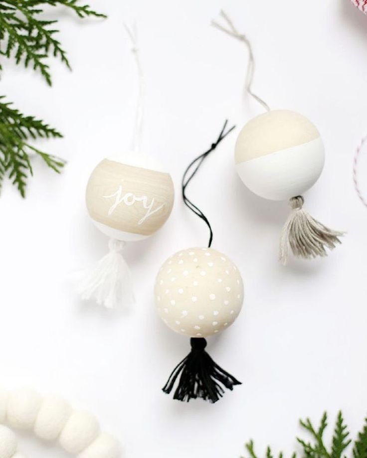 "The Holiday Collective on Instagram: ""I love diying my own ornaments every year- these ones are going on my to do list! Wooden tassel ornaments from @themerrythought on The Holiday Collective today!"""