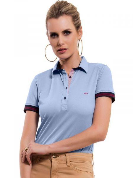 251cfdfbe0 Camisa Polo Principessa Melissa Azul - Camisa Polo Azul Claro Principessa  Melissa - Malha Piquet Com Elastano