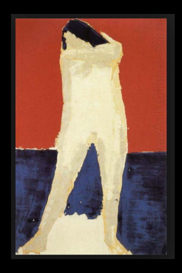 "Nicolas De Staël - ""Nu debout"", 1954 - Huile sur toile - 146,1 x 87,2 cm"