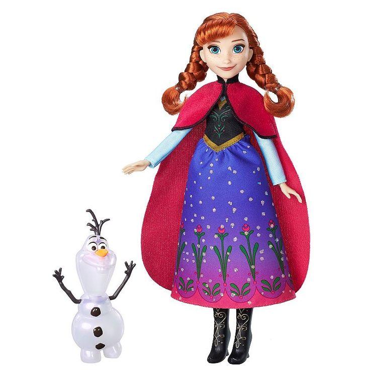Disney's Frozen Northern Lights Anna Doll & Olaf Figure Set, Multicolor