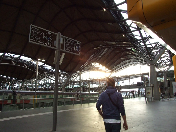I was just a little bit in love with the structures of the Southern Cross Station, Melbourne, Australia