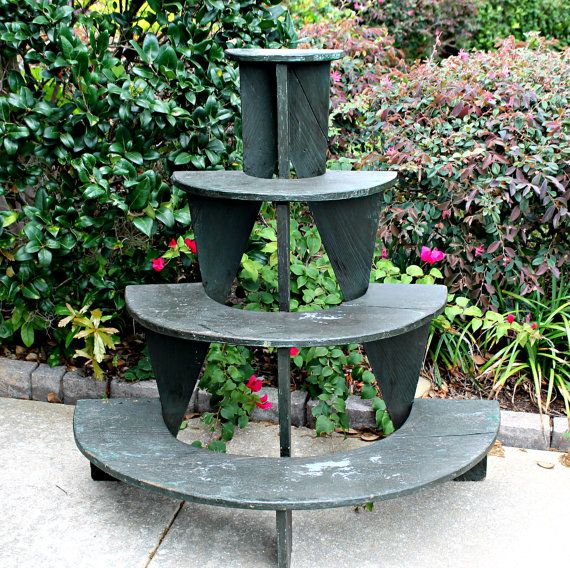 Antique Plant Stand Half Round 3 Tiers By Vintagearcheology 95 00 Gardening Ideas Tips
