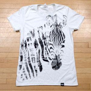 Women's Zebra t-shirt on organic cotton