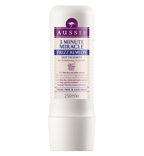 Aussie 3 Minute Miracle Deep Hair Treatment Frizz Remedy 250ml - Boots